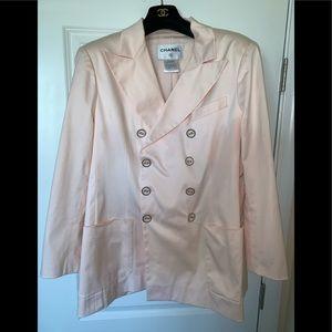 Genuine CHANEL light Pink cotton silky feel blazer